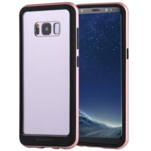 GOOSPERY New Bumper X for Galaxy S8+ / G955 PC + TPU Shockproof Hard Protective Back Case(Rose Gold) (GOOSPERY)