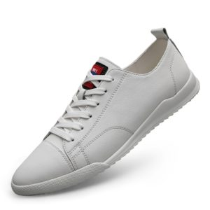 Fashion Solid Color Lightweight Sport Casual Shoes for Men (Color:White Size:43)