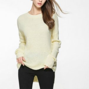 Loose Turtleneck Thin Sweater, Size: XL(Yellow)