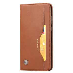For Galaxy A71 Knead Skin Texture Horizontal Flip Leather Case with Photo Frame & Holder & Card Slots & Wallet(Brown)