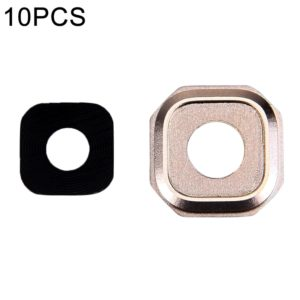 10 PCS Camera Lens Covers for Galaxy A7 (2016) / A710(Gold)