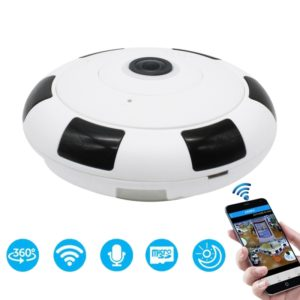 FV-G3602B-1080PH 2.0MP 1080P HD 360 Degrees Wide Angle WiFi Security IP Camera, Support Infrared Night Vision / TF Card, EU Plug