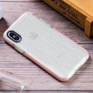 Shiny Glass Powder Ripples Pattern TPU Case for iPhone X / XS (Pink)