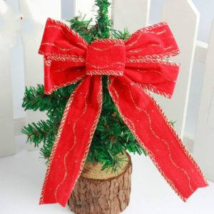 3 PCS Christmas PVC Red Bow Decoration