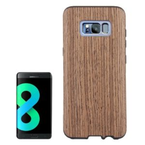 For Galaxy S8 + / G955 Wood Texture Protection Soft Back Cover Case