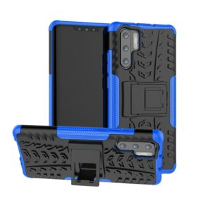 Tire Texture TPU+PC Shockproof Case for Huawei P30 Pro, with Holder (Blue)