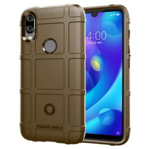 Full Coverage Shockproof TPU Case for Xiaomi Mi Play (Brown)