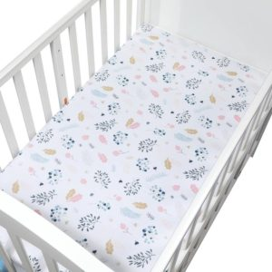 Bedding For Cot Soft Breathable Baby Bed Mattress Cover Potector Cartoon pattern Size 120*65cm(CLS0040) (EGMAO BABY)