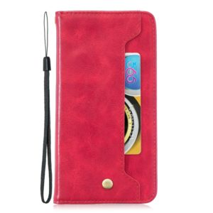 For Galaxy S10 Copper Buckle Nappa Texture Horizontal Flip Leather Case, with Holder & Card Slots & Wallet(Red)