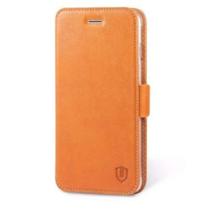 SHIELDON Leather Flip Book Case για το iPhone 7 Plus - Brown