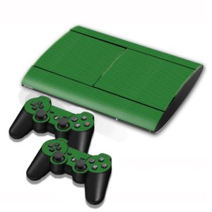 Carbon Fiber Texture Decal Stickers for PS3 Game Console(Green)