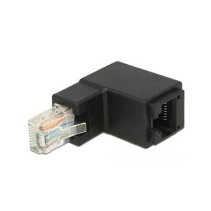 Delock Adapter RJ45 plug angled To RJ45 jack Cat.6, Black (86424)