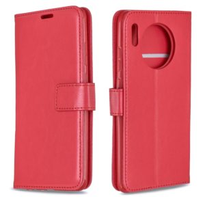 For Huawei Mate 30 Crazy Horse Texture Horizontal Flip Leather Case with Holder & Card Slots & Wallet & Photo Frame(Red)