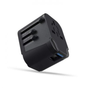 SWISS MOBILITY UNIVERSAL TRAVEL ADAPTER 2.4A black