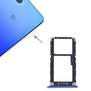 SIM Card Tray + SIM Card / Micro SD Card for Xiaomi Mi 8 Lite(Blue)