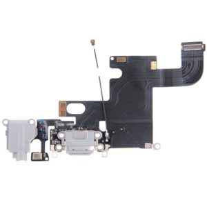 Charging Port Dock Connector Flex Cable for iPhone 6(Grey)