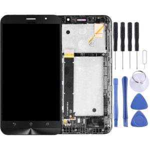 LCD Screen and Digitizer Full Assembly with Frame for Asus Zenfone ZB551KL Go TV TD-LTE X013D X013DB(Black)