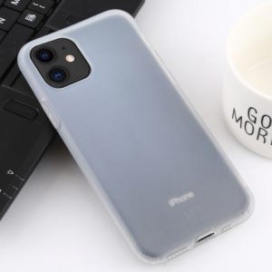 For iPhone 11 Shockproof Liquid Latex Soft Protective Case(White)