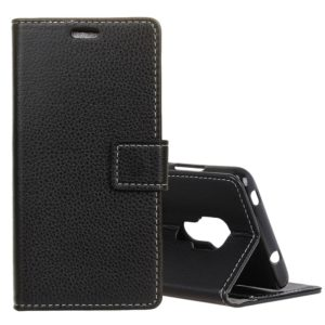 Litchi Texture Horizontal Flip Leather Case for Huawei Mate 20, with Holder & Card Slots & Wallet (Black)
