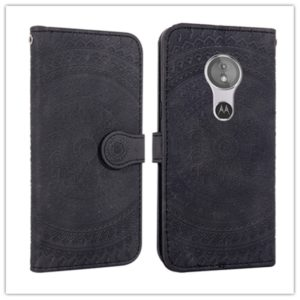 For Sony Xperia XZ3 Pressed Printing Pattern Horizontal Flip PU Leather Case with Holder & Card Slots & Wallet & & Lanyard(Black)