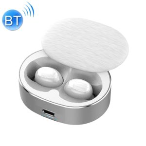 B20 Mini Portable In-ear Noise Reduction Bluetooth V5.0 Stereo Earphone with 360 Degrees Rotation Charging Box (White)