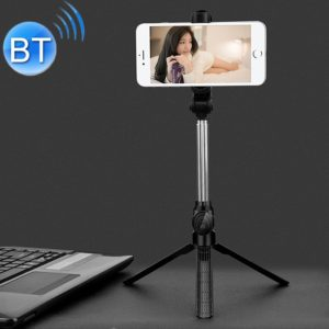 XT10 Multi-function Mobile Live Broadcast Bluetooth Self-timer Pole Tripod (Black)