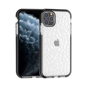 For iPhone 11 Pro Shockproof Diamond Texture TPU Protective Case(Black)