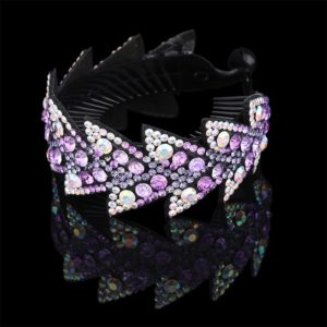 Fashion Rhinestone Flower Hair Claws Women Hair Accessories Girls Hairpin Headwear Twist Clip(Violet)