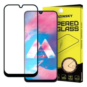 Wozinsky Tempered Glass Full Glue Super Tough Full Coveraged with Frame Case Friendly for Samsung Galaxy M30 black
