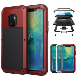 Tank Waterproof Dustproof Shockproof Aluminum Alloy + Silicone Case for Huawei Mate 20 Pro (Red)