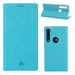 For Motorola Moto G8 Play ViLi Shockproof TPU + PU Horizontal Flip Protective Case with Card Slot & Holder(Blue) (ViLi)