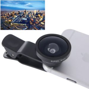HE-22 Universal Super Wide 0.4X Lens with Clip, For iPhone, Galaxy, Sony, Lenovo, HTC, Huawei, Google, LG, Xiaomi and other Smartphones(Black)