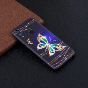 Embossment Patterned TPU Soft Case for Huawei Honor 10 Lite / P Smart 2019 (Big Butterfly)