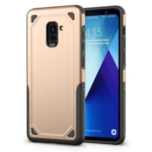 For Galaxy A8 (2018) Shockproof Rugged Armor Protective Case (Gold)