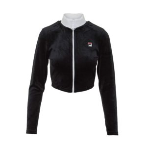 Fila Heritage Chante Crop Sweater Μαυρο