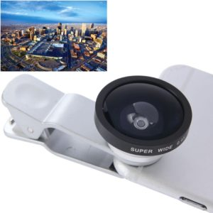 HE-22 Universal Super Wide 0.4X Lens with Clip, For iPhone, Galaxy, Sony, Lenovo, HTC, Huawei, Google, LG, Xiaomi and other Smartphones(Silver)