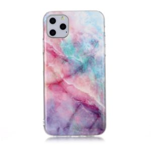 For iPhone 11 Pro Coloured Drawing Pattern IMD Workmanship Soft TPU Protective Case(Pink Sky)