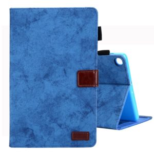 For Galaxy Tab A 8.0 & S Pen (2019) Business Style Horizontal Flip Leather Case, with Holder & Card Slot & Photo Frame & Sleep / Wake-up Function(Blue)