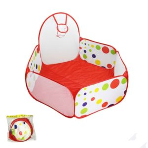 Folding Portable Baby Polka Dot Hexagon Indoor Ball Pool Game Fence 1.2 m in Diameter