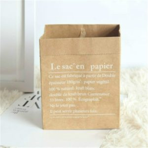 Kraft Paper Bag Gift Bags For Artificial Dried Flowers Vase Home Decorations, Size:14x9x17cm(Whole Yellow French)