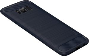 IPAKY Θήκη Samsung Galaxy S8 IPAKY Original Brushed TPU Back Case with Carbon Fiber Decorated -Dark Blue