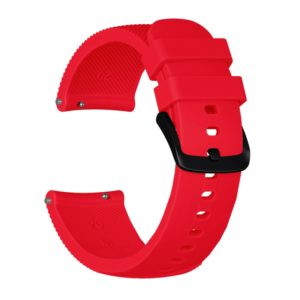 Crazy Horse Texture Silicone Wrist Strap for Huami Amazfit Bip Lite Version 20mm (Red)