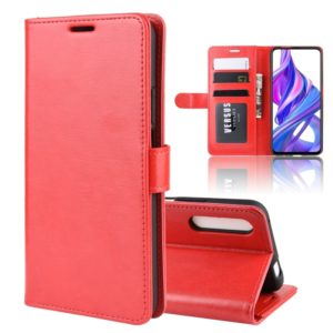 R64 Texture Single Fold Horizontal Flip Leather Case for Honor 9X / Honor 9X Pro, with Holder & Card Slots & Wallet(red)