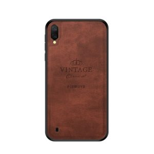 PINWUYO Shockproof Waterproof Full Coverage PC + TPU + Skin Protective Case for Galaxy M10 (Brown) (PINWUYO)