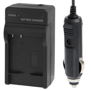 Digital Camera Battery Car Charger for Panasonic BCF10 / BCK7E(Black)