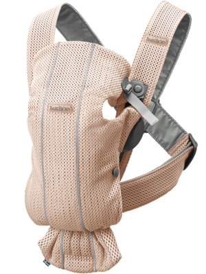 BabyBjorn μάρσιπος Mini 3D Mesh, Pearly Pink