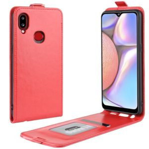 For Galaxy A10s Crazy Horse Vertical Flip Leather Protective Case(Red)
