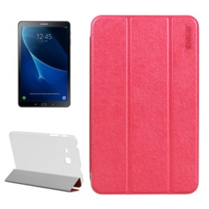 For Galaxy Tab A 7.0 (2016) / T280 Three Fold Silk Texture with Holder PU Protective Case(Pink) (ENKAY)