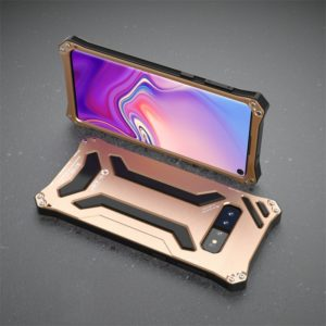 Shockproof Dustproof Gundam Armor Protective Case for Galaxy S10 (Gold)