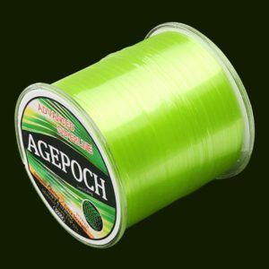 5.0# 0.37mm 13.5kg Tension 500m Extra Strong Imported Raw Silk Nylon Fishing Line (Grass Yellow)
